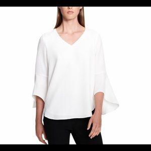 Calvin Klein Collection White Textured Top